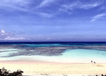 波照間島 北と南の2面性 ニシ浜