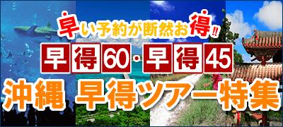 沖縄ツアーは早期予約が確実に安い