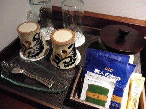 coffee at Japanese-Western style room