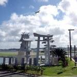 瀬長島からみる飛行機