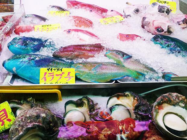 牧志公設市場の魚たち