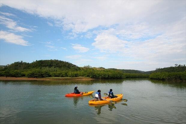 沖縄のカヌー
