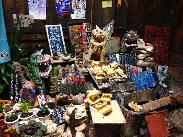 栄町・シーサーがたくさん