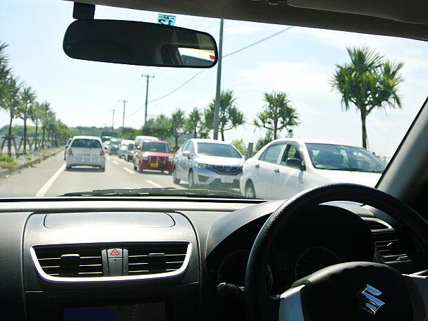 瀬長島の渋滞