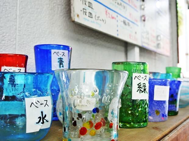 吹きガラス・色の見本