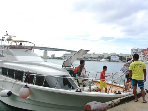 ナガンヌ島から戻った船