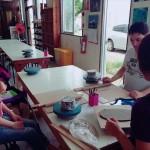石垣島の青い海、空、お皿!石垣焼窯元|石垣焼で海を作ろう!