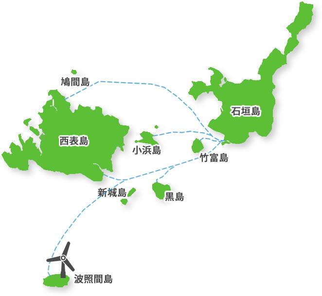 八重山諸島のなかの波照間島