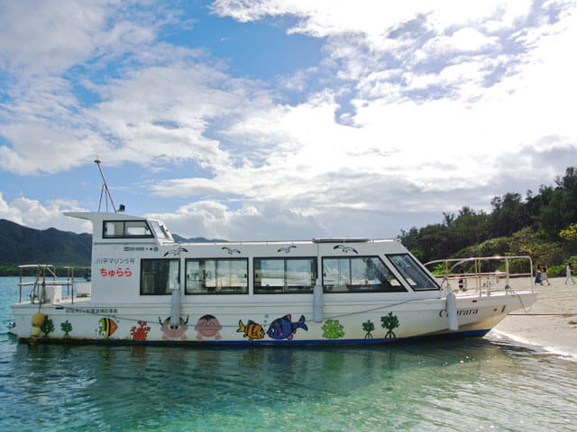 Kabira bay・glass-bottom boats