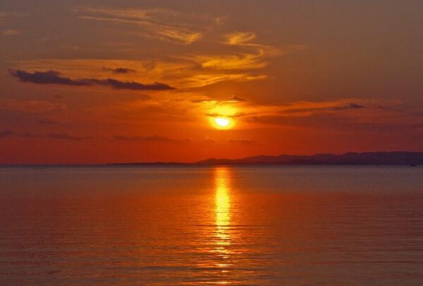 石垣島の夕日