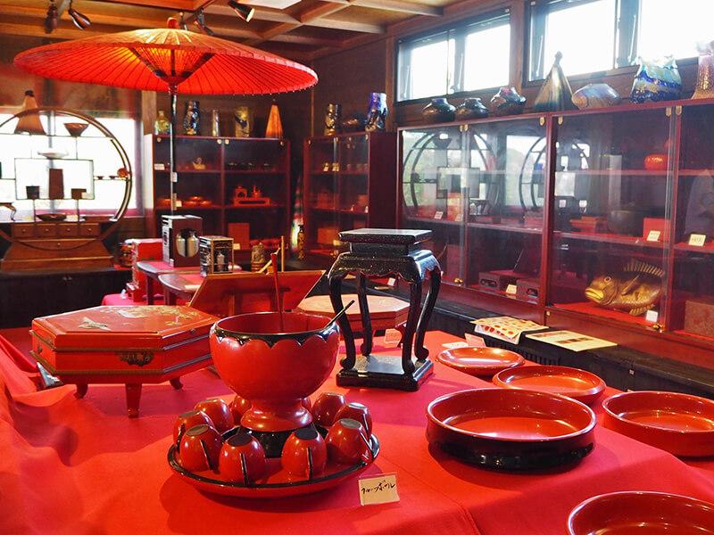 沖縄歴史民族資料館 漆器エリア