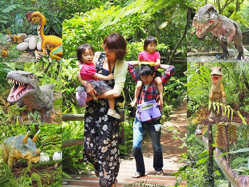 DINO恐竜PARK やんばる亜熱帯の森 中の様子