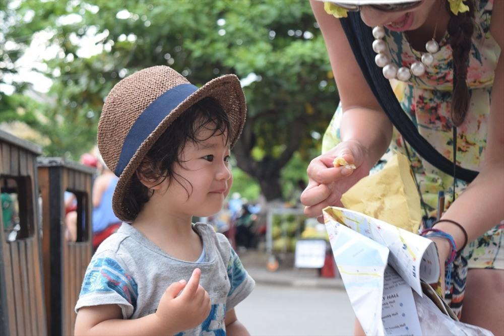 子連れで沖縄旅行イメージ