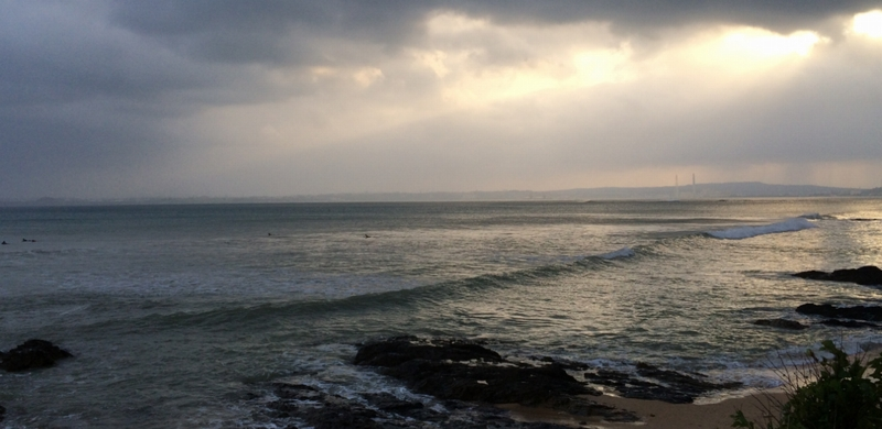 沖縄旅行の台風イメージ