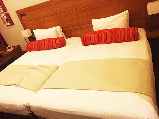 沖縄都ホテル パティオツイン ベッド