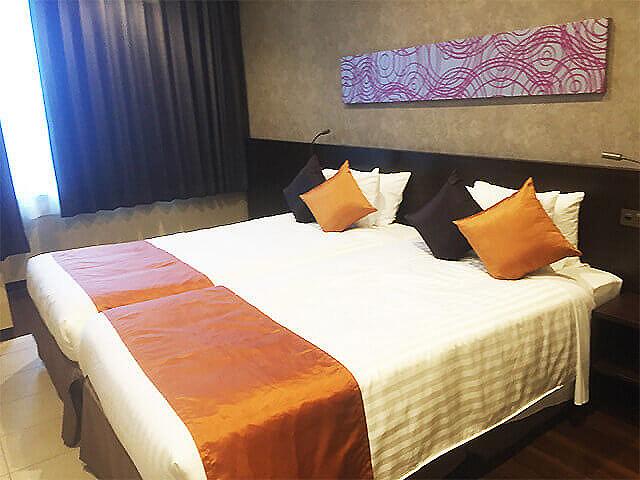 那覇セントラルホテル 客室 ベッド