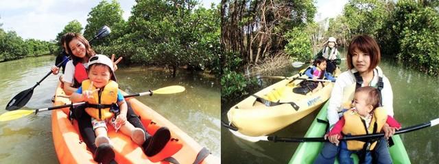 幼児もできる沖縄アクティビティ熱帯ジャングルマングローブのカヤック探検