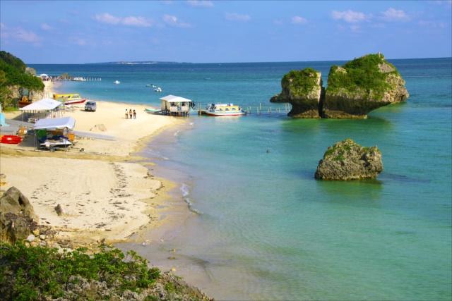 沖縄でグラスボート新原ビーチ1