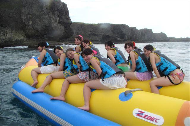 万座毛 バナナボート