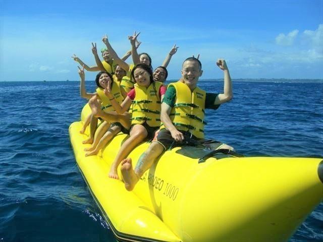 沖縄旅行 バナナボート