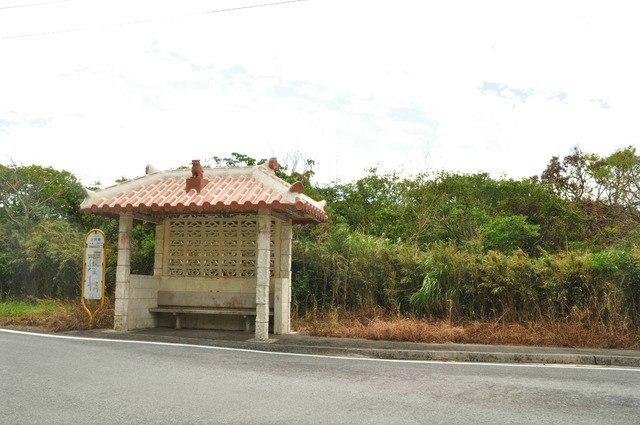黒石の森 道中のバス停