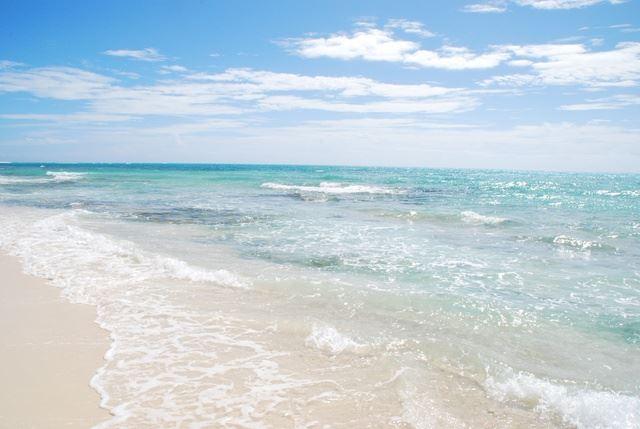 畳石付近の海
