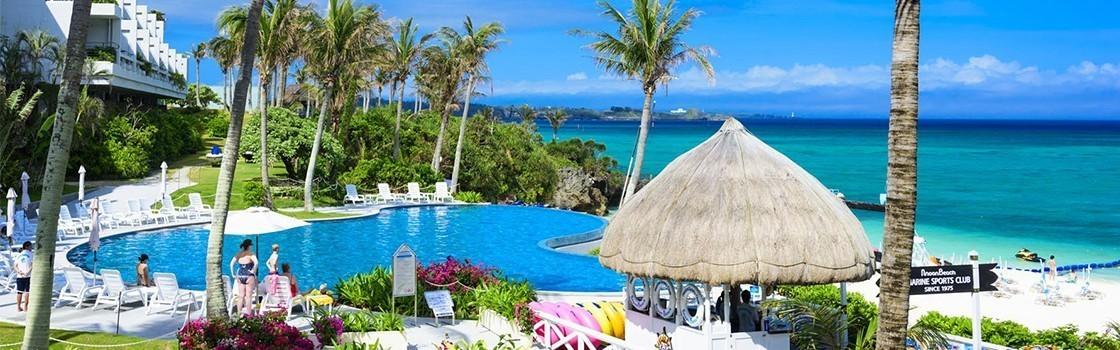 沖縄でプールが人気のホテル(ムーンビーチラグーンプール)