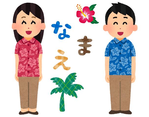 沖縄 苗字 素材画像