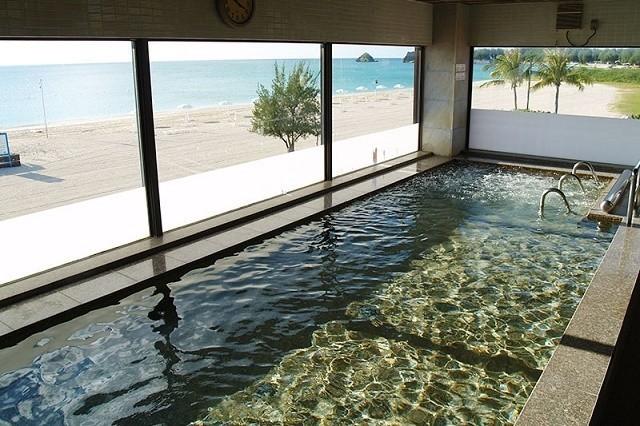 オクマプライベートビーチ&リゾート 展望浴場 シーサイドサウナ