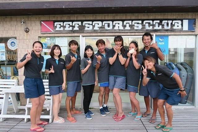久米島 ダイビング イーフスポーツクラブ スタッフ集合写真