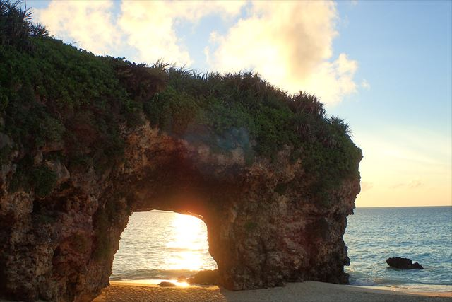 砂山ビーチ 夕日