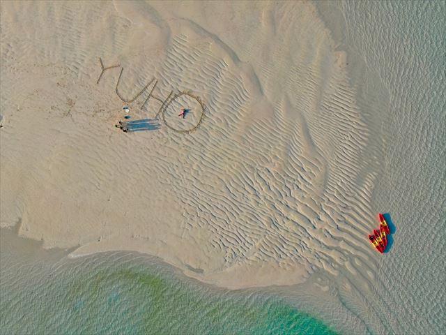 ドローンでユニの浜 撮影