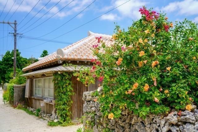 うちなーぐち 沖縄古民家とアカバナ―