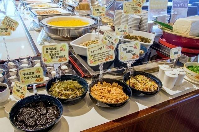 ホテルミヤヒラ 朝食ビュッフェ 八重山料理