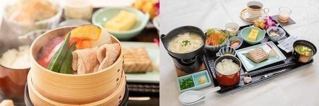 ホテルミヤヒラ 和定食 温野菜とゆし豆腐