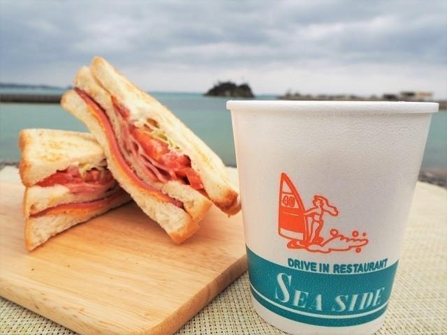 沖縄 シーサイドドライブイン スープとシーサイドサンド