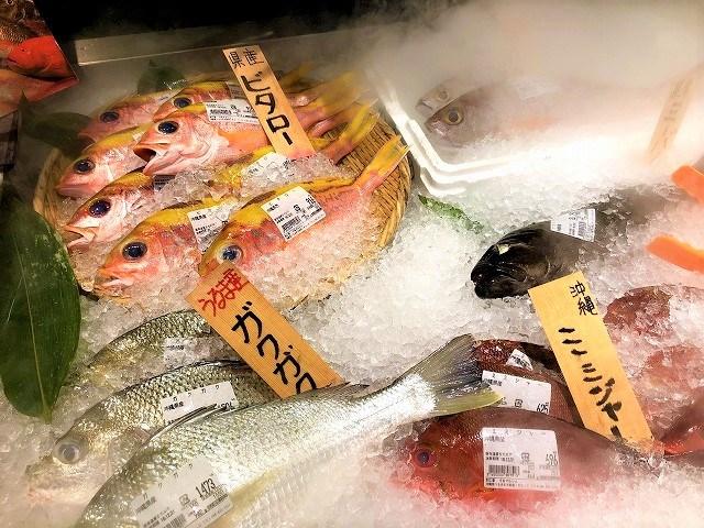 うるマルシェ 魚売り場