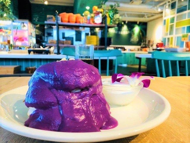 ラジェントホテル沖縄北谷 アリーズ沖縄 紅芋パンケーキ