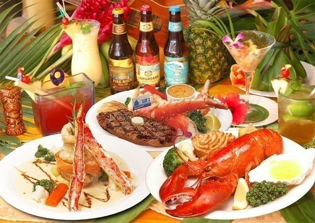 サムズ 沖縄 カラフルな食材とドリンク