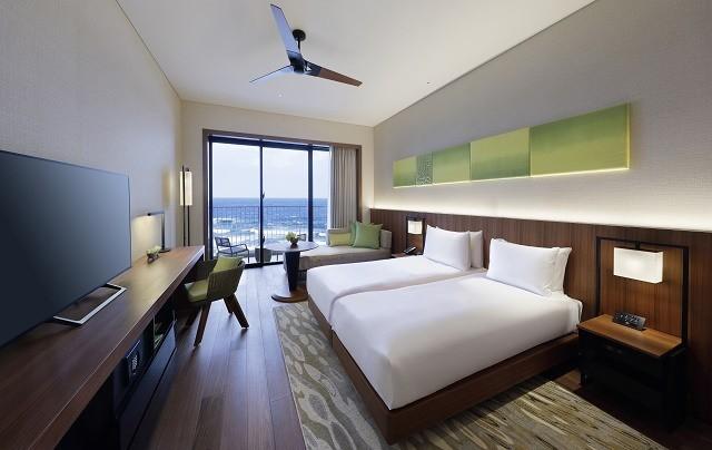 沖縄 高級ホテル ハイアット・リージェンシー瀬良垣アイランド スタンダードツイン 客室