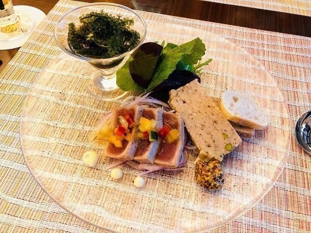 アラマハイナ コンドホテル 夕食 本日の鮮魚カルパッチョ