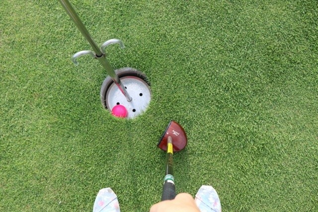沖縄 パークゴルフ ホールインワンの瞬間