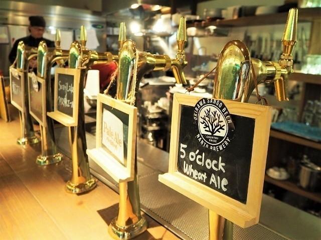 taste of okinawa 様々なビールサーバー