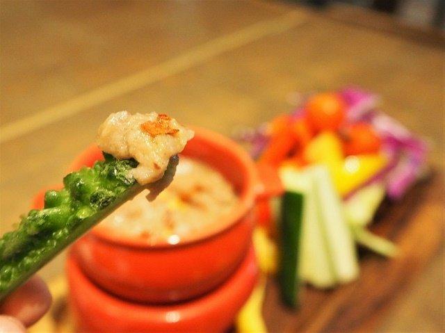 taste of okinawa 県産野菜のバーニャカウダ