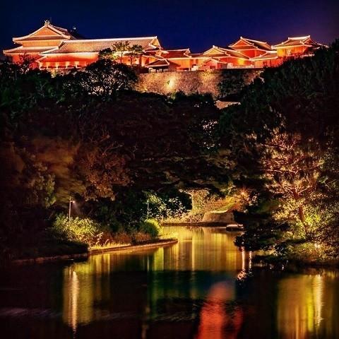 沖縄 インスタ映え カップル旅 首里城 ライトアップ