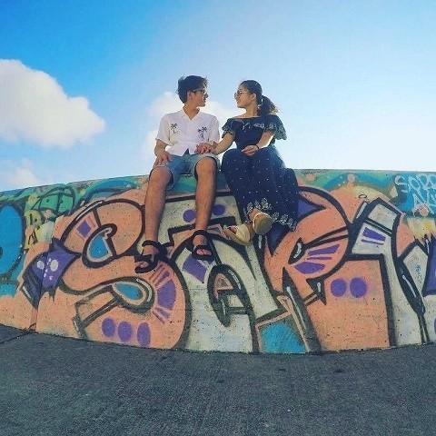 沖縄 インスタ映え カップル旅 サンセットビーチ ウォルアート