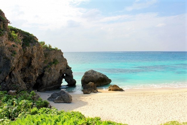 池間島 ハート岩 イキヅービーチ