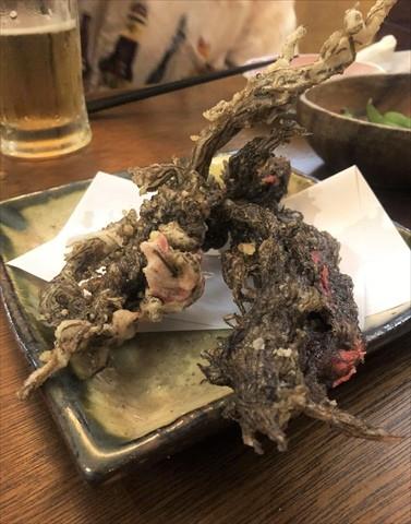 宮古島 居酒屋 南楽 もずくの天ぷら