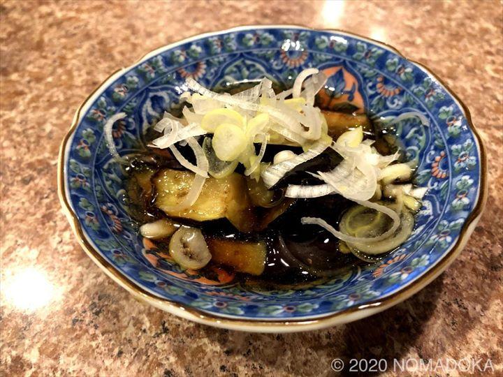 栄町市場 センベロ tamaki屋 茄子の揚げびたし