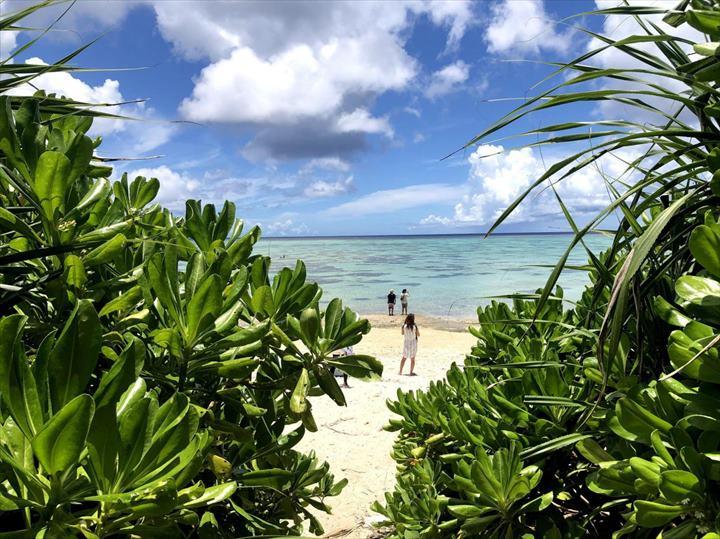 タバガービーチ 入口